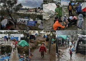 اوضاع تکاندهنده کودکان زنان مهاجر در یونان